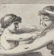 Cupid Binding the Eyes of a Woman